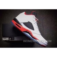 "2017 Girls Air Jordan 5 Low ""Fire Red"" For Sale Online EPNH3"