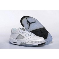 2017 Girls Air Jordan 5 Low White/Black-Wolf Grey For Sale Christmas Deals 427d7z