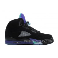Air Jordan 5 Black/New Emerald-Grape Ice For Sale KzFRm