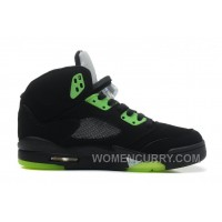 "Air Jordan 5 ""Quai 54″ Black/Radiant Green For Sale Super Deals 3AGkfY"