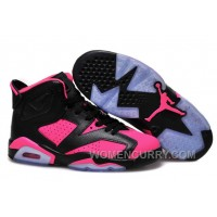2017 Girls Air Jordan 6 Black Pink Shoes For Sale Cheap To Buy RZNyR