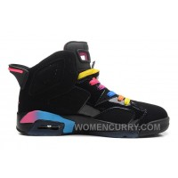 Air Jordan 6 Black/Pink Flash-Marina Blue For Sale Cheap To Buy 8EC2SR
