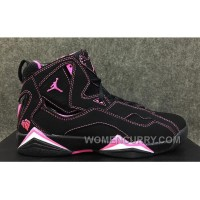 2017 Girls Air Jordan 7 Improved Dark Black Pink For Sale Christmas Deals DNbwES