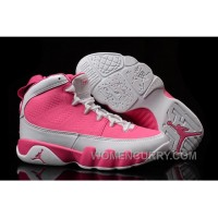 2017 Girls Air Jordan 9 Pink White Shoes For Sale Online YSbHARA
