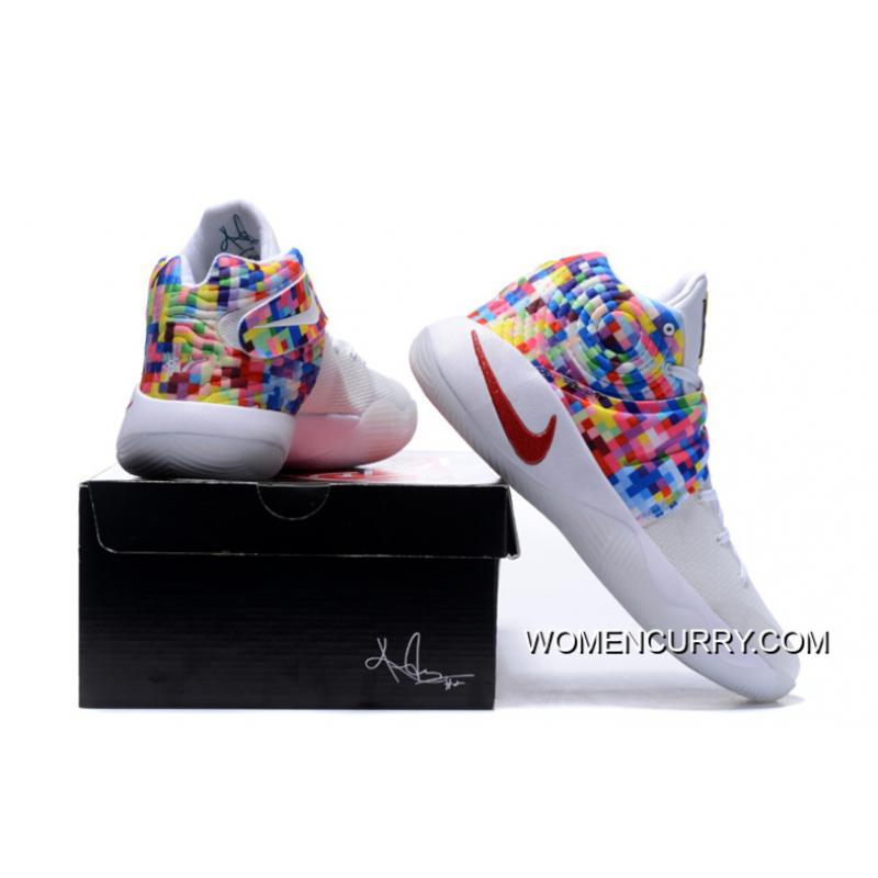"hot sales 65fa0 08ec3 ... Girls Nike Kyrie 2 ""Effect"" White-Red Multi-Color Online ..."