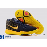 New Nike Kyrie 3 GS Cavs Deep Blue Yellow PE Authentic