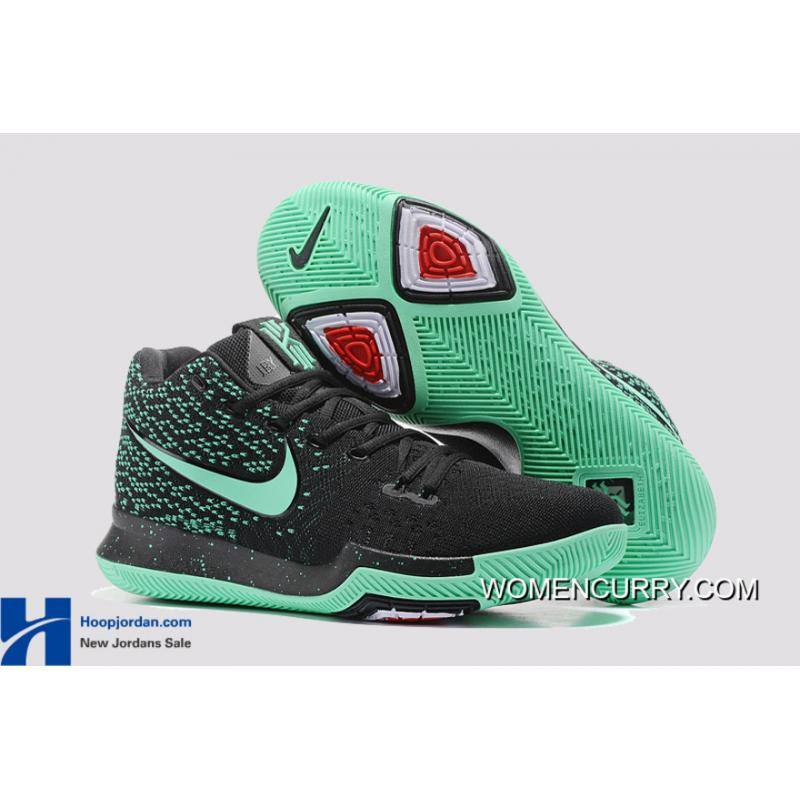 Nike Kyrie 3 Green Black PE GS s Basketball Shoes Best c762330a5