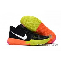 Girls Nike Kyrie 3 Black Colorful Volt Orange Pink For Sale