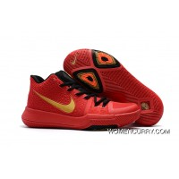 Girls Nike Kyrie 3 Red Black Gold Discount