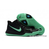 Girls Nike Kyrie 3 Black Grass Green Free Shipping