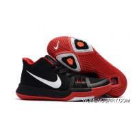 Girls Nike Kyrie 3 Black Red White New Release