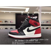 Top Deals Authentic Air Jordan 1 Og Black Toe Toe Size 36 555088-610-45