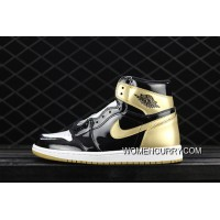 Free Shipping Air Jordan 1 Top3 Complexcon Black Gold Yuanyang 861428-001