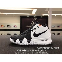 New Release Nike Off-White Kyrie 4 X 18 Spring Kyrie Ep Owen Creative To Be Customized Men Basketball Sport Shoes Combat Weapon At Light Of Actual Combat Coding Air Jordan 16 91 100