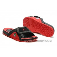 2017 Mens Jordan Hydro 13 Slide Sandals Black Red Lastest XH6yJ