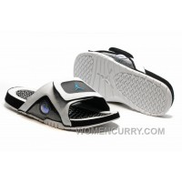 2017 Mens Jordan Hydro 13 Slide Sandals White Black Blue Christmas Deals 5dFDdd