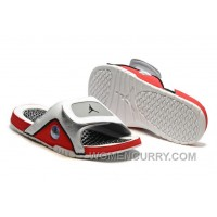 2017 Mens Jordan Hydro 13 Slide Sandals White/Black/True Red/Cement Grey Authentic FAj65