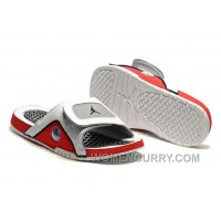 2017 Mens Jordan Hydro 13 Slide Sandals White/Black/True Red/Cement Grey Cheap To Buy TGx87j