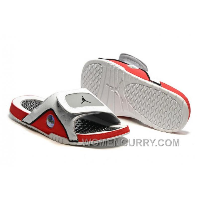 2017 Air Jordan Hydro 13 Slide Sandals WhiteBlackTrue RedCement Grey Best