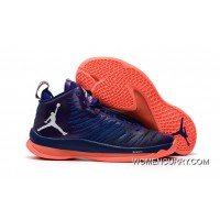 New Jordan .Fly 5 X Purple/Orange Men's Basketball Shoes Super Deals