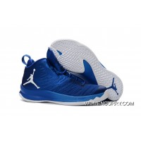 Jordan Super.Fly 5 Game Royal Blue/White Men's Basketball Shoe New Release