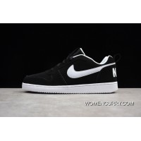 Best Nike Court Borough Men Casual Sneaker Black White Colorways 838937-010 Women Shoes And Men Shoes