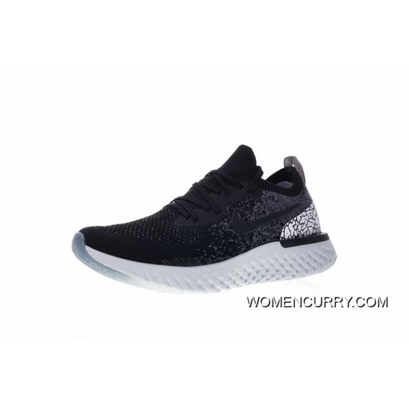b962d1f8651e2 Women Shoes And Men Shoes Nike Epic Foot Feeling 18 Ss React Flyknit Foam  Particles Knit Super Light Quantity Jogging Shoes Black Grey Oreo Blasting  Crack ...
