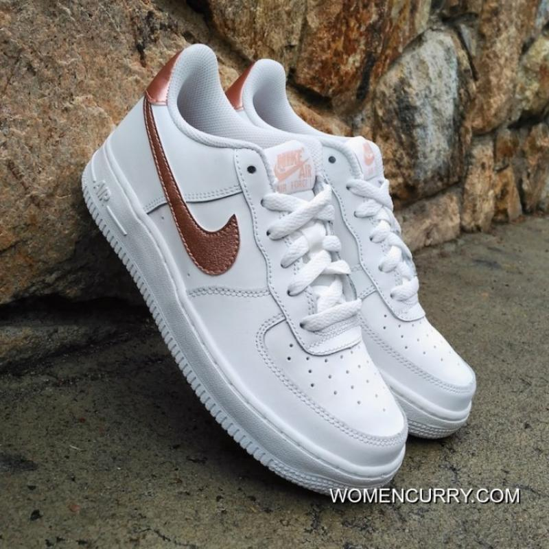 Women NIKE Air Force1 AF1 White Gold 314219-129 Outlet 9340e7f4ad92