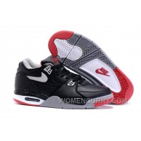 "Nike Air Flight '89 ""Bred"" Black/Cement Grey-Fire Red-White Mens Basketball Shoes Lastest ImbaZw"