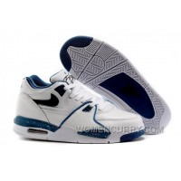 "Nike Air Flight '89 ""Obsidian Blue"" White/Dark Obsidian-Brigade Blue Mens Basketball Shoes Top Deals C7K4DH"