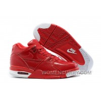Nike Air Flight '89 Red Leather Mens Basketball Shoes Online Emc2Q6b