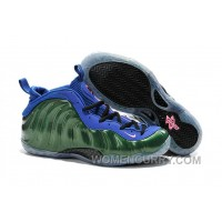 Nike Air Foamposite One Green Blue Mens Basketball Shoes Discount C7dax4