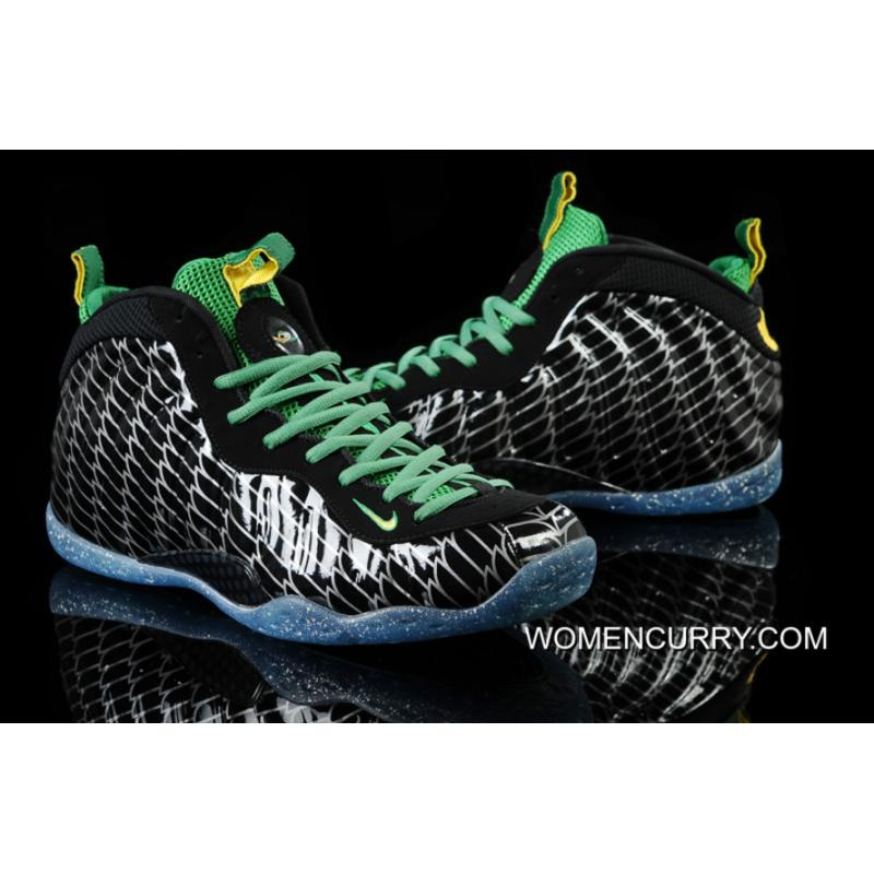promo code 56965 1586c Nike Air Foamposite One Premium UO QS Oregon Ducks- Black/Yellow  Strike-Apple Green-Silver For Sale