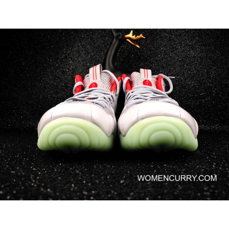 183be194b6a98 Nike Air Foamposite Pro Prm Pure Platinum -Grey   Red Authentic ...