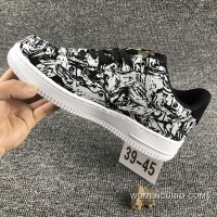 Nike Air Force 1 AF1 UPSTEP LOW BHM 920788 Zebra Shoes Online