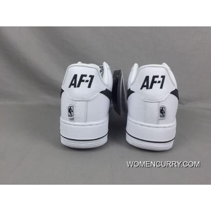 ... Super Deals Nike Air Force 1 Low Af1 X The Nba To Be White And Black ... 458b02f0bbf2