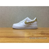 AQ0666 100 Nike Air Force 1 CR7 Cristiano Ronaldo Joint White Gold Low Sneakers Super Deals