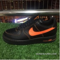 Authentic Nike Af1 Vlone Air Force 1 Black Orange Chen One Limited Aa5360-001