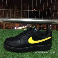Nike Air Force One Af1 07 Black-Yellow Low Aa4083-002 Free Shipping