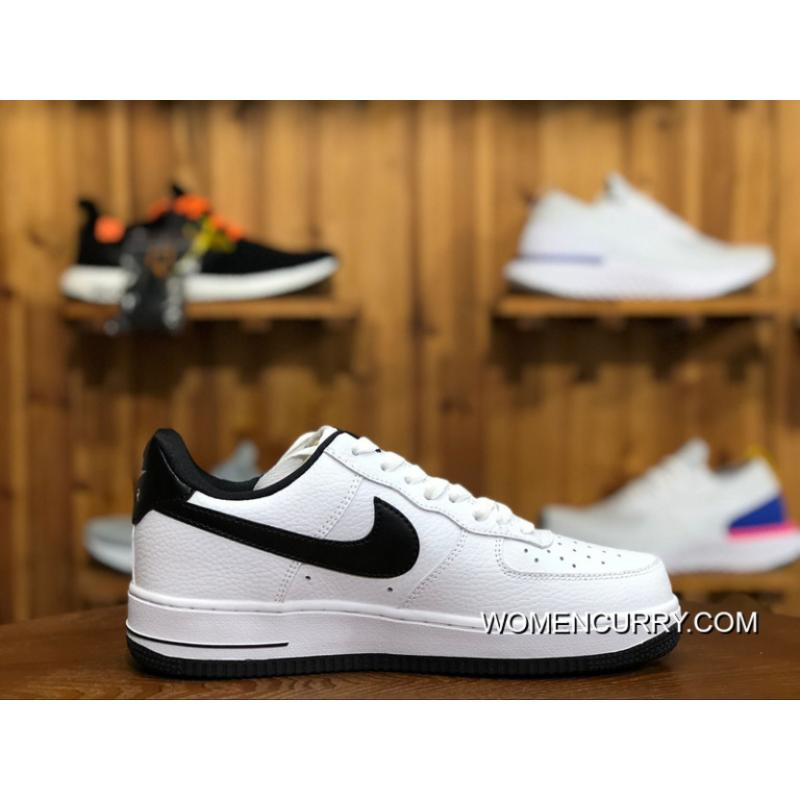 ... Nike Air Women Shoes And Men Shoes AF1 Air Force One Sneakers White  Black AA0287- ... cac3a768bbab