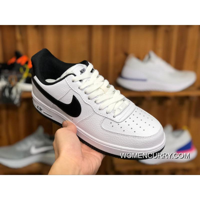 ... Nike Air Women Shoes And Men Shoes AF1 Air Force One Sneakers White  Black AA0287- ... 9418bae030ea