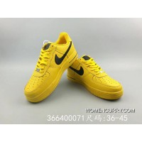 the latest f2f73 65e80 Women Men Nike Air Force One Yellow Black FULL GRAIN LEATHER Genuine  LEATHER Upper 1