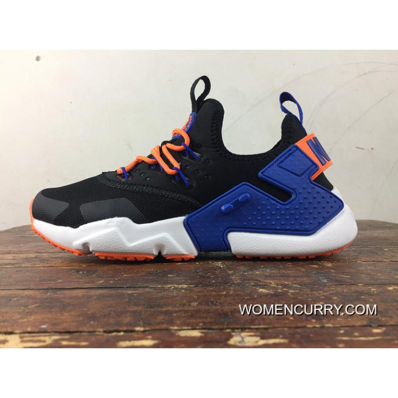 new product 90256 7c7a3 Top Deals Free Combination Nike Air Huarache Six S Of 6 Drift Dark Blue And  Orange Removable Strap Design
