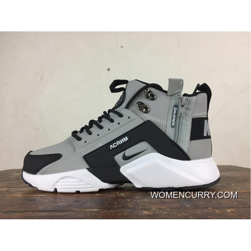 84beb3e6d9905 Outlet Fall Winter Style Nike Air Huarache Four S 4 High City Be X Acronym  856787-100 Black Ash
