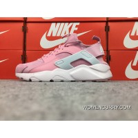 Online Nike Air Huarache 4 Texture Pig Leather Series Ultra Id Customized Light Pink 829669-669