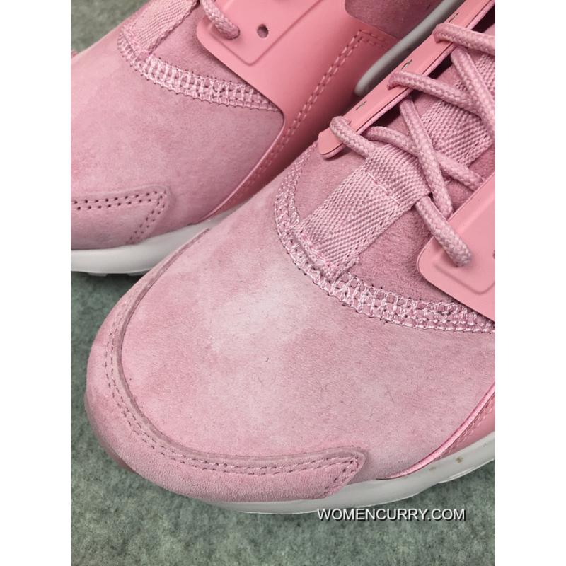 ... Online Nike Air Huarache 4 Texture Pig Leather Series Ultra Id  Customized Light Pink 829669- ...