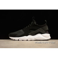 New Release Nike Air Huarache 4 FLYKNIT Run Ultra Black White