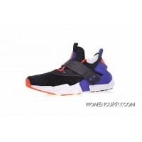 For Sale All Size Shoes Nike Air Huarache Drift Prm Drift 6 Generation Retro Pattern Jogging Shoes Pig Leather Black Electric Blue Orange AH7335-002
