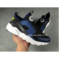 Nike Air Huarache 4 White Black Blue New Year Deals