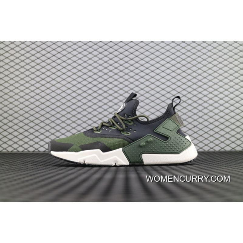 013c1ece50e1 New Year Deals Nike Air Huarache Drift Prm 2018 Military Green White ...